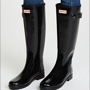 Hunter black boots worn few times